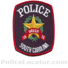Greer Police Department Patch