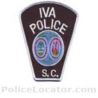 Iva Police Department Patch