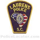 Laurens Police Department Patch