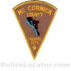McCormick County Sheriff's Office Patch
