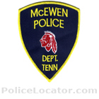 McEwen Police Department Patch
