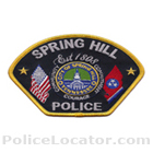 Spring Hill Police Department Patch