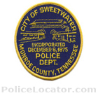 Sweetwater Police Department Patch
