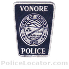 Vonore Police Department Patch