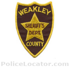 Weakley County Sheriff's Office Patch