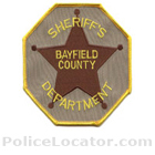 Bayfield County Sheriff's Office Patch