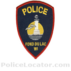 Fond Du Lac Police Department Patch