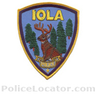 Iola Police Department Patch