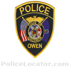 Owen Police Department Patch