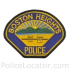 Boston Heights Police Department Patch
