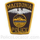 Macedonia Police Department Patch