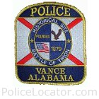 Vance Police Department Patch