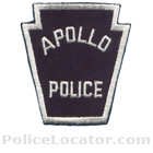 Apollo Borough Police Department Patch