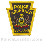 Archbald Borough Police Department Patch