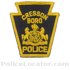 Cresson Borough Police Department Patch