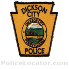 Dickson City Police Department Patch