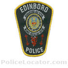 Edinboro Police Department Patch