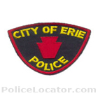 Erie Police Department Patch