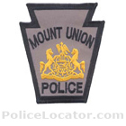 Mount Union Borough Police Department Patch