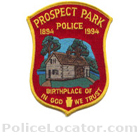 Prospect Park Police Department Patch