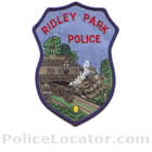 Ridley Park Police Department Patch