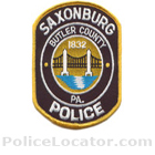 Saxonburg Police Department Patch