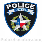 Center Police Department Patch