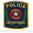 Emory Police Department Patch