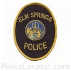 Elm Springs Police Department Patch