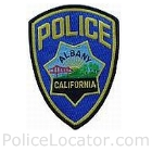 Albany Police Department Patch