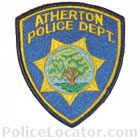 Atherton Police Department Patch