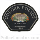 Corona Police Department Patch