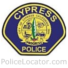 Cypress Police Department Patch