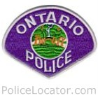 Ontario Police Department Patch