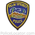 Palm Springs Police Department Patch