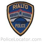 Rialto Police Department Patch