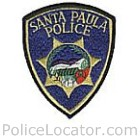 Santa Paula Police Department Patch