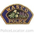Wasco Police Department Patch