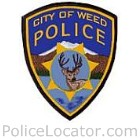 Weed Police Department Patch