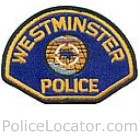Westminster Police Department Patch