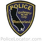 Westmorland Police Department Patch