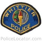 Whittier Police Department Patch