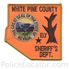 White Pine County Sheriff's Department Patch