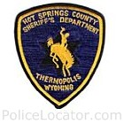 Hot Springs County Sheriff's Department Patch