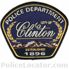Clinton City Police Department Patch