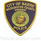 Barre City Police Department Patch