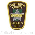 Chittenden County Sheriff's Department Patch