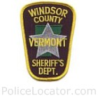 Windsor County Sheriff's Department Patch