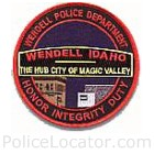 Wendell Police Department Patch