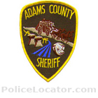 Adams County Sheriff's Department Patch